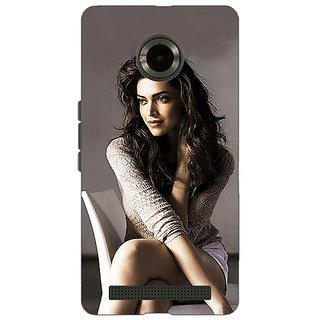 Jugaaduu Bollywood Superstar Deepika Padukone Back Cover Case For Micromax Yu Yuphoria - J891038