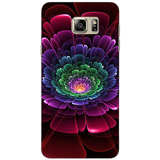Jugaaduu Abstract Flower Pattern Back Cover Case For Samsung Galaxy Note 5 - J911504