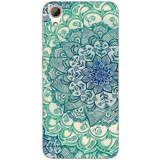 Jugaaduu Emerald Doodle Pattern Back Cover Case For HTC Desire 626 - J920216