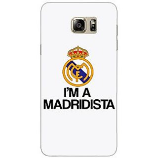 Jugaaduu Real Madrid Back Cover Case For Samsung S6 Edge+ - J900599