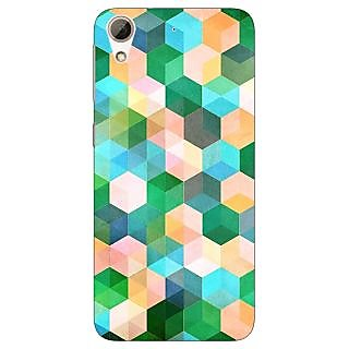 Jugaaduu Green Hexagons Pattern Back Cover Case For HTC Desire 626 - J920276