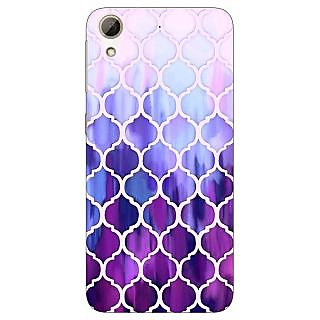 Jugaaduu White Purple Moroccan Tiles Pattern Back Cover Case For HTC Desire 626 - J920297