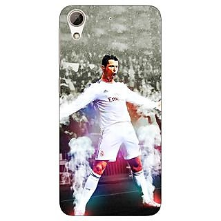 Jugaaduu Cristiano Ronaldo Real Madrid Back Cover Case For HTC Desire 626 - J920305