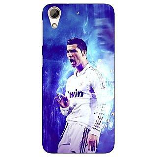 Jugaaduu Cristiano Ronaldo Real Madrid Back Cover Case For HTC Desire 626 - J920308