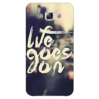 Jugaaduu Quotes Life Goes on Back Cover Case For Samsung Galaxy A3 - J571132