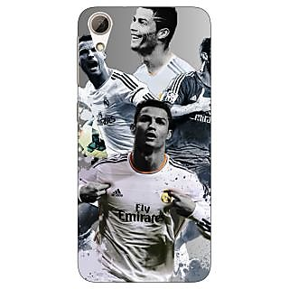Jugaaduu Cristiano Ronaldo Real Madrid Back Cover Case For HTC Desire 626G - J930307