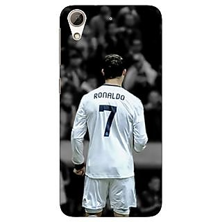 Jugaaduu Cristiano Ronaldo Real Madrid Back Cover Case For HTC Desire 626G - J930315