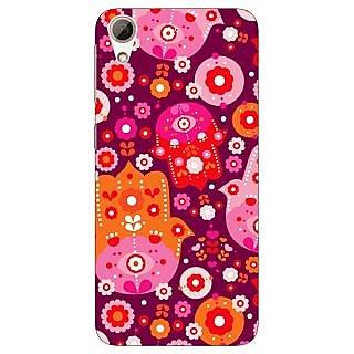 Jugaaduu Floral Pattern  Back Cover Case For HTC Desire 626G - J930656