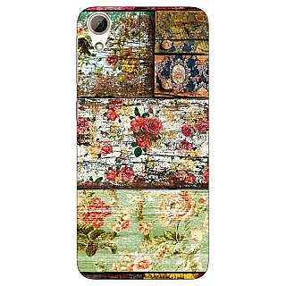 Jugaaduu Floral Pattern  Back Cover Case For HTC Desire 626G - J930673