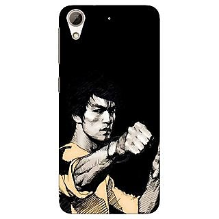 Jugaaduu Bruce Lee Back Cover Case For HTC Desire 626 - J920825