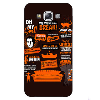 Jugaaduu FRIENDS Back Cover Case For Samsung Galaxy A3 - J570449