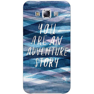 Jugaaduu Quotes Adventure Back Cover Case For Samsung Galaxy A3 - J571159