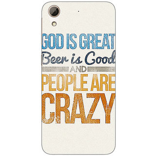 Jugaaduu Beer Quote Back Cover Case For HTC Desire 626 - J921215