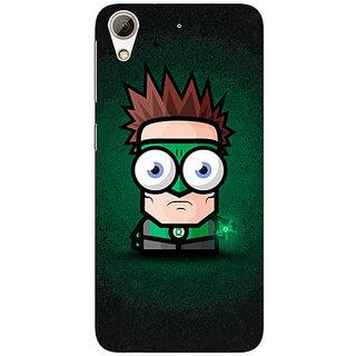Jugaaduu Big Eyed Superheroes Green Lantern Back Cover Case For HTC Desire 626G - J930399