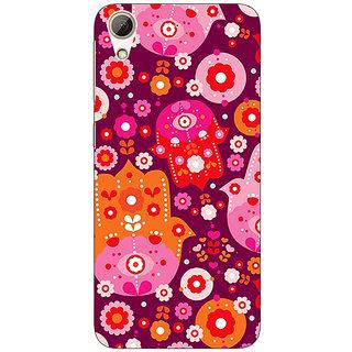 Jugaaduu Floral Pattern  Back Cover Case For HTC Desire 626G+ - J940656