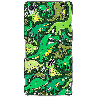 Jugaaduu Dinosaurs Pattern Back Cover Case For Sony Xperia Z4 - J581383