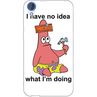 Jugaaduu Spongebob Patrick Back Cover Case For HTC Desire 826 - J590474