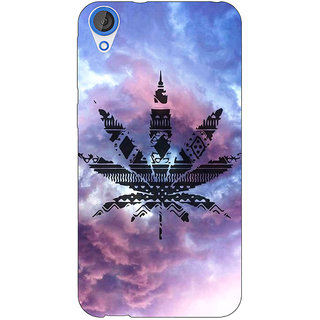 Jugaaduu Weed Marijuana Back Cover Case For HTC Desire 826 - J590495