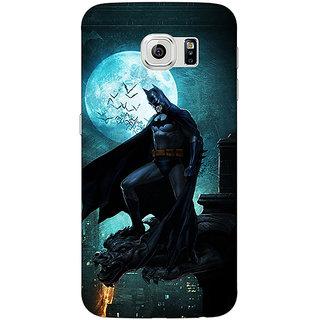 Jugaaduu Superheroes Batman Dark knight Back Cover Case For Samsung S6 Edge - J600007