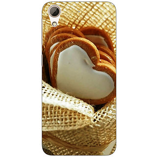 Jugaaduu Heart Cookies Back Cover Case For HTC Desire 626G+ - J940723