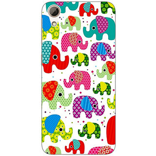 Jugaaduu Baby Elephant Pattern Back Cover Case For HTC Desire 626G+ - J940767
