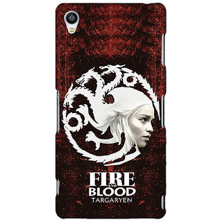 Jugaaduu Game Of Thrones GOT House Targaryen  Back Cover Case For Sony Xperia Z4 - J580150