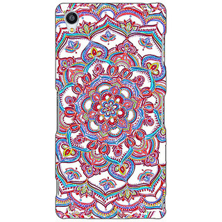 Jugaaduu Flower Circles Pattern Back Cover Case For Sony Xperia Z4 - J580230