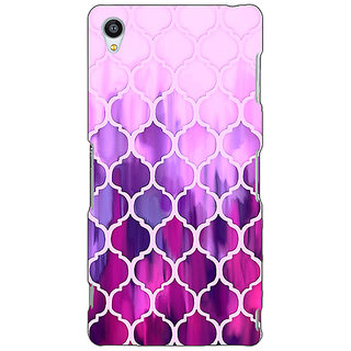 Jugaaduu Pink Magenta Moroccan Tiles Pattern Back Cover Case For Sony Xperia M4 - J610298