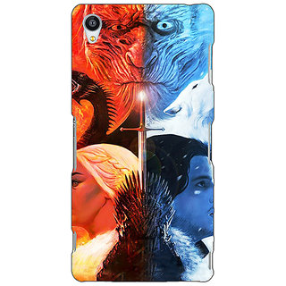 Jugaaduu Game Of Thrones GOT Khaleesi Daenerys Targaryen House Stark Jon Snow Back Cover Case For Sony Xperia Z4 - J581542
