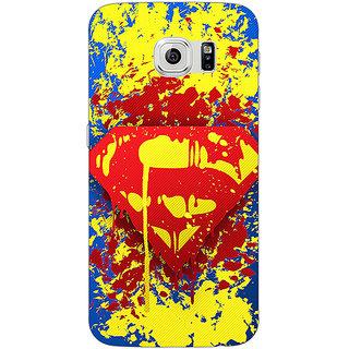 Jugaaduu Superheroes Superman Back Cover Case For Samsung S6 Edge - J600392