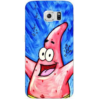 Jugaaduu Spongebob Patrick Back Cover Case For Samsung S6 Edge - J600463
