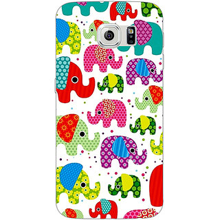 Jugaaduu Baby Elephant Pattern Back Cover Case For Samsung S6 Edge - J600767
