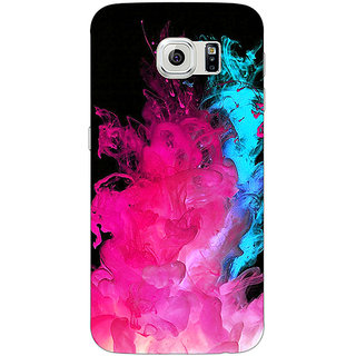Jugaaduu Colourful Smoke Back Cover Case For Samsung S6 Edge - J600776