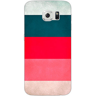 Jugaaduu Stripes Pattern Back Cover Case For Samsung S6 Edge - J600787