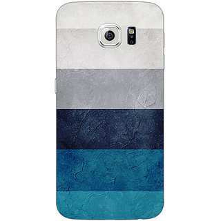 Jugaaduu Stripes Pattern Back Cover Case For Samsung S6 Edge - J600788