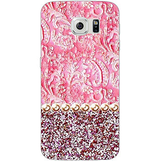 Jugaaduu Pearl Pink Back Cover Case For Samsung S6 Edge - J600794