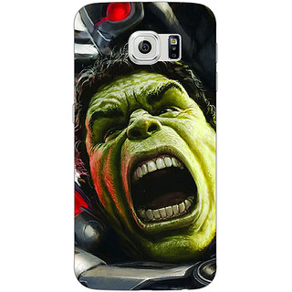 Jugaaduu Super Heroes Hulk Age of Ultron Back Cover Case For Samsung S6 Edge - J600845