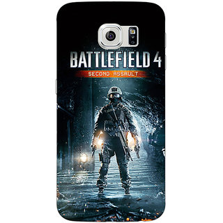 Jugaaduu Battlefield 4 Back Cover Case For Samsung S6 Edge - J600849