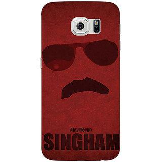 Jugaaduu Bollywood Superstar Singham Back Cover Case For Samsung S6 Edge - J601126