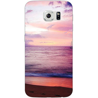 Jugaaduu Sunset At the Beach Back Cover Case For Samsung S6 Edge - J601136
