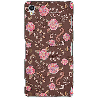 Jugaaduu Soft Roses Pattern Back Cover Case For Sony Xperia Z4 - J580240