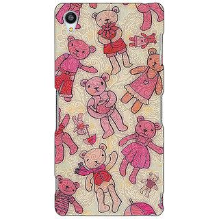Jugaaduu Teddy Pattern Back Cover Case For Sony Xperia Z4 - J580263