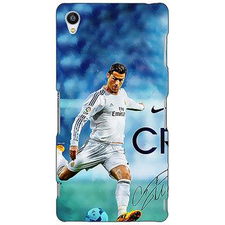 Jugaaduu Cristiano Ronaldo Real Madrid Back Cover Case For Sony Xperia M4 - J610313