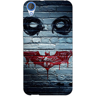 Jugaaduu Villain Joker Back Cover Case For HTC Desire 826 - J590028
