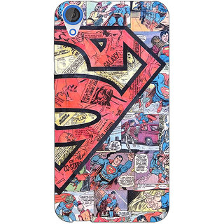 Jugaaduu Superheroes Superman Back Cover Case For HTC Desire 826 - J590044