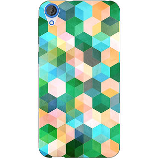Jugaaduu Green Hexagons Pattern Back Cover Case For HTC Desire 826 - J590276