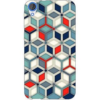 Jugaaduu Wild Hexagon Pattern Back Cover Case For HTC Desire 826 - J590282