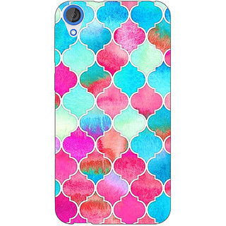 Jugaaduu Blue Pink Moroccan Tiles Pattern Back Cover Case For HTC Desire 826 - J590295