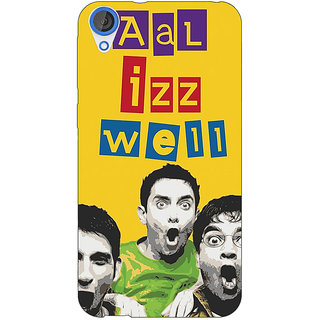 Jugaaduu Bollywood Superstar Three Idiots All is Well Back Cover Case For HTC Desire 826 - J591111