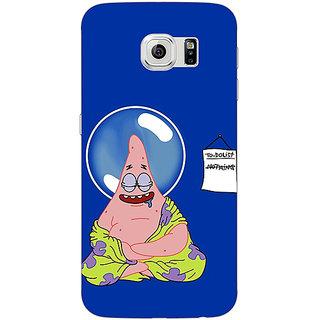 Jugaaduu Spongebob Patrick Back Cover Case For Samsung S6 Edge - J600472
